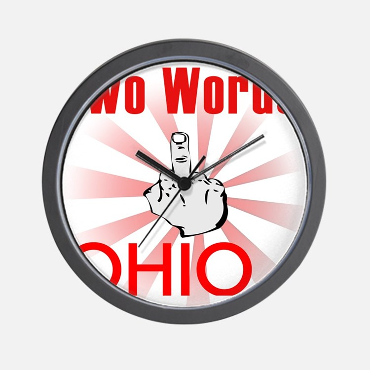 Cute Hate ohio Wall Clock