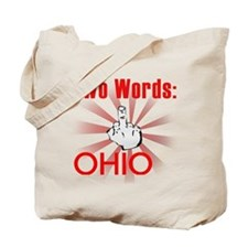 Cute Hate ohio Tote Bag