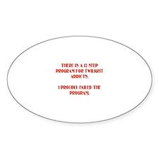 12 Step Twilight Program Oval Decal
