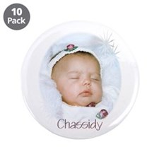 "Chassidy 3.5"" Button (10 pack)"