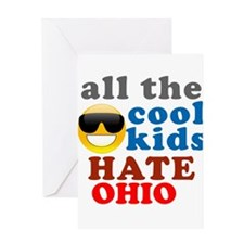 Funny Hate ohio Greeting Card