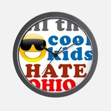 Funny Hate ohio Wall Clock