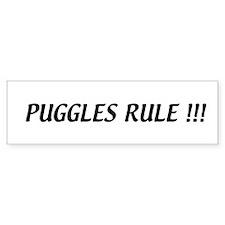 Puggles Rule Bumper Bumper Sticker