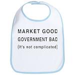 Market Good, Government Bad Bib