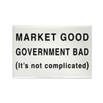 Market Good, Government Bad Rectangle Magnet (10 p