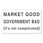 Market Good, Government Bad Rectangle Sticker 10
