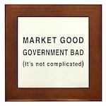 Market Good, Government Bad Framed Tile