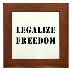 Legalize Freedom Framed Tile