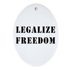 Legalize Freedom Oval Ornament