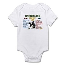 Border Collie Property Laws 4 Infant Bodysuit
