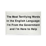 Terrifying Government Rectangle Magnet (100 pack)