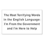 Terrifying Government Rectangle Sticker 50 pk)