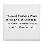 Terrifying Government Tile Coaster