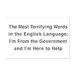 Terrifying Government Mini Poster Print