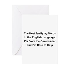 Terrifying Government Greeting Cards (Pk of 20)
