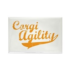 Corgi Agility Rectangle Magnet
