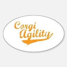 Corgi Agility Oval Decal