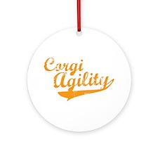 Corgi Agility Ornament (Round)