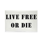 Live Free or Die Rectangle Magnet (10 pack)