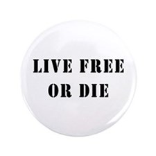 "Live Free or Die 3.5"" Button"