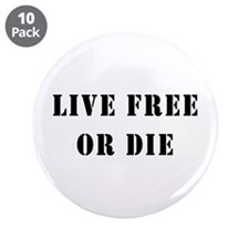 "Live Free or Die 3.5"" Button (10 pack)"
