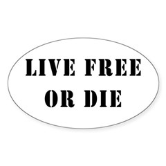 Live Free or Die Oval Decal