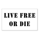 Live Free or Die Rectangle Sticker 10 pk)