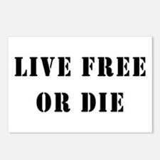 Live Free or Die Postcards (Package of 8)