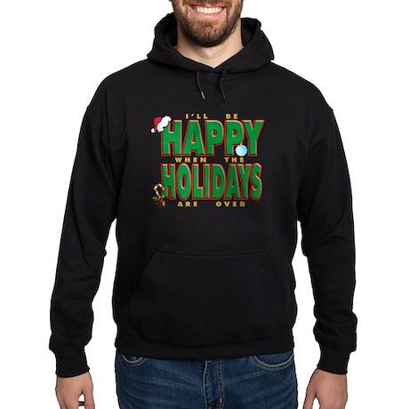 Happy Holidays Hoodie (dark)