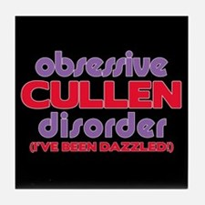 Obsessive Cullen Disorder Tile Coaster