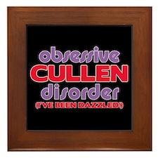 Obsessive Cullen Disorder Framed Tile