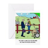 Funny lawyer Greeting Cards