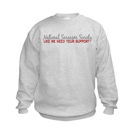 National Sarcasm Society Kids Sweatshirt