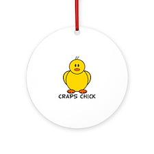 Craps Chick Ornament (Round)