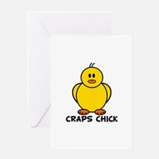 Craps Chick Greeting Card
