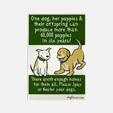 Sixty Thousand Dogs - Spay Neuter Rectangle Magnet