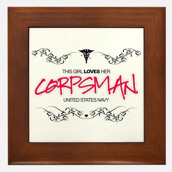 This Girl Loves (Corpsman) Framed Tile