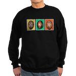 Eggs in a Row Sweatshirt (dark)