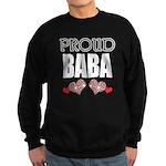 Proud BABA (2) Sweatshirt (dark)