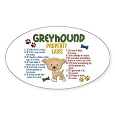 Greyhound Property Laws 4 Oval Decal