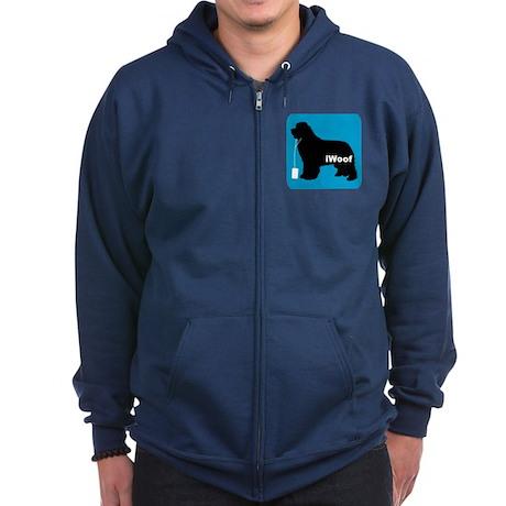iWoof Newfoundland Zip Hoodie (dark)
