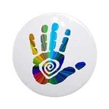 Massage Hand Ornament (Round)