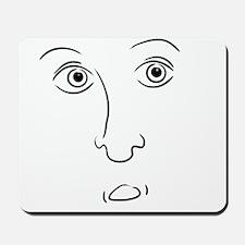 Scared Face Mousepad