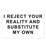 I Reject Your Reality Postcards (Package of 8)