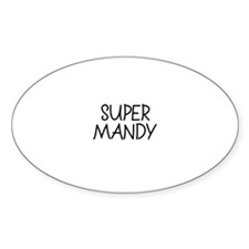 Super Mandy Oval Decal