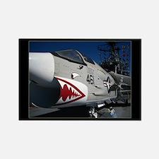 Navy Fighter - Rectangle Magnet