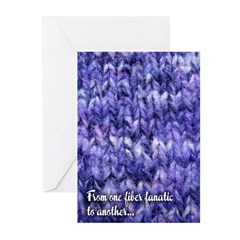 Purple Fiber Fanatic Greeting Cards (Pk Of 10)