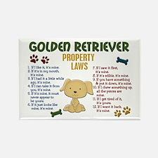 Golden Retriever Property Laws 4 Rectangle Magnet