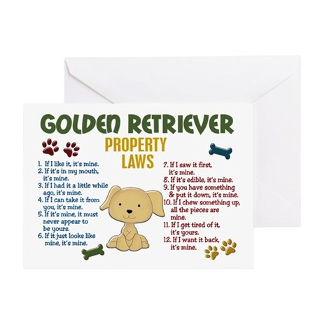 Golden Retriever Property Laws 4 Greeting Card
