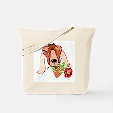 Goat and RoseTote Bag